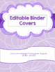 Book themed binder covers