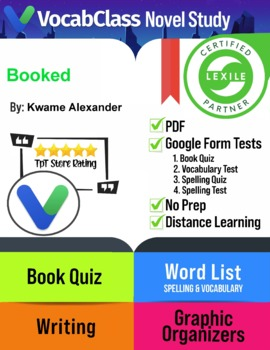 Booked Novel Study Guide by Kwame Alexander | QUIZZES | VO