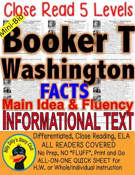 Booker T Washington FACTS differentiated 5 level passages
