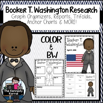 Booker T. Washington Biography Research Bundle {Report, Tr