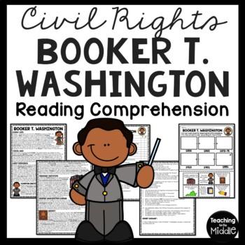 Booker T. Washington bio, questions, primary sources, Blac