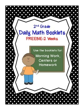 Freebie: 2nd Grade Daily Math Booklet
