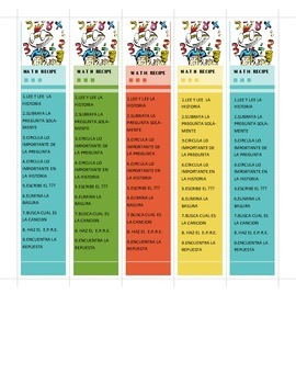 Bookmark- Awesome Math RECIPE Problem Solving Strategies (
