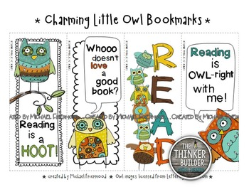 FREEBIE: Bookmarks {Charming Little Owls}
