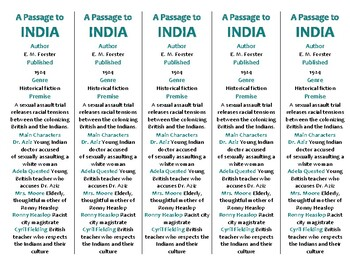 A Passage to India edition of Bookmarks Plus—A Handy Littl