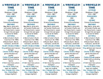A wrinkle in time whole book assessment and extension activities ...