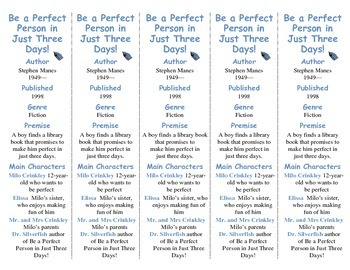 Be a Perfect Person in Just 3 Days edition of Bookmarks Pl