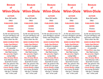 Because of Winn-Dixie edition of Bookmarks Plus—A Handy Li