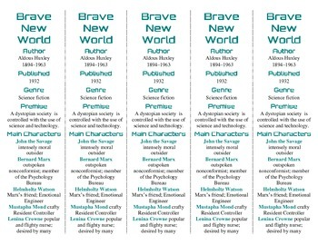 Brave New World edition of Bookmarks Plus—A Very Handy Lit