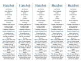Hatchet edition of Bookmarks Plus—A Handy Little Reading Aid!