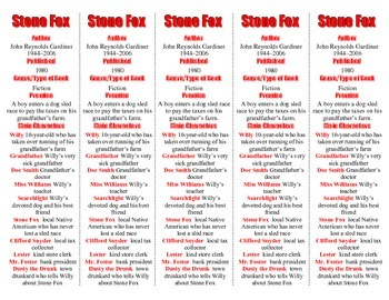 Stone Fox edition of Bookmarks Plus—A Handy Little Reading Aid!