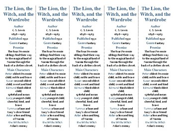 The Lion, The Witch, and the Wardrobe edition of Bookmarks
