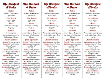 The Merchant of Venice edition of Bookmarks Plus—A Handy L