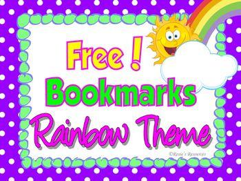 Bookmarks Rainbow Theme {Free}
