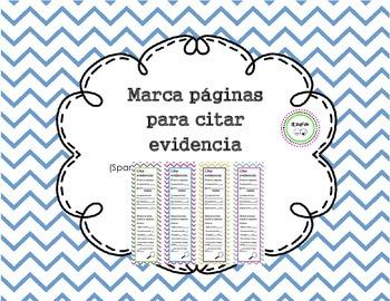 Bookmarks for citing evidence / Marca paginas para citar e