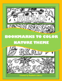 Bookmarks to Color:  Nature Theme Two