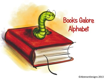 Books Galore Alphabet (Word Wall Tags)