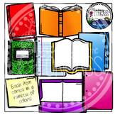 Books, Journals and Folders Clipart Bundle