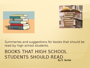 Books That High School Students Should Read