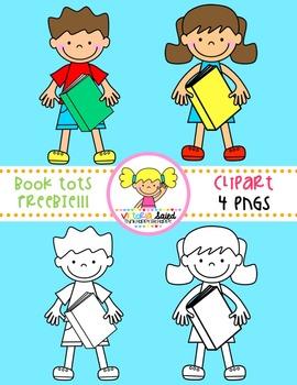 Books Tots FREEBIE! {Kids Clipart}