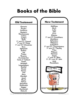 Books of the Bible Memory Page by Biblecation