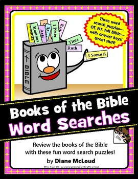 Books of the Bible Word Search Puzzles