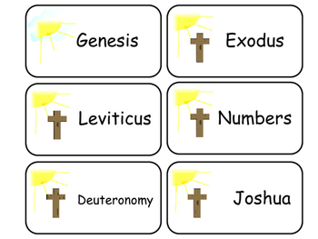 Books of the Old Testament Printable Flashcards. Preschool