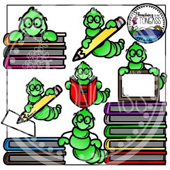 Bookworm Clipart Bundle