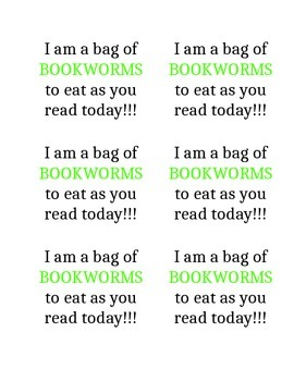 Bookworm Snack