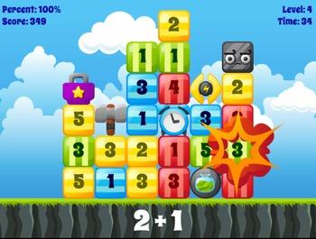 Boom Blocks - Basic Math (Playable at RoomRecess.com)