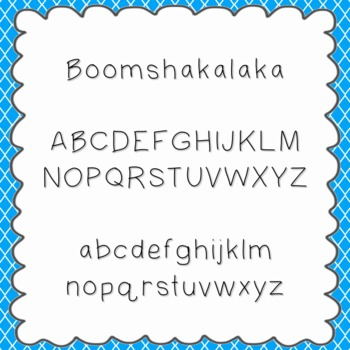 Boomshakalaka Font {personal and commercial use; no licens