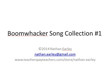 Boomwhacker Song Collection #1 with Notation