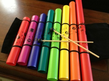 """Boomwhackers sheets. """"In the woods"""" 2016."""