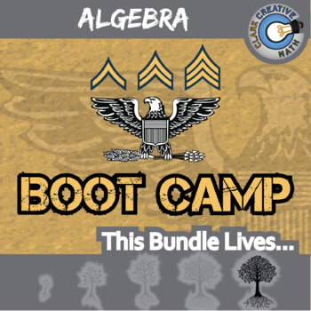 Boot Camp -- ALGEBRA BUNDLE -- 6 Differentiated Practice Sets!