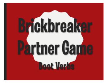 Spanish Boot Verb Brickbreaker Partner Game