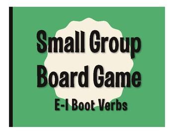 Spanish E-I Boot Verb Board Game