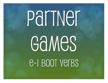 Spanish E-I Boot Verb Partner Games