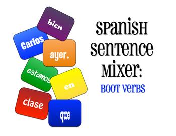 Spanish Boot Verb Sentence Mixer