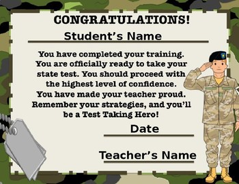 BootCamp Certificate of Completion for Test Prep