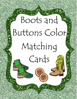 Boots and Buttons Color Matching Cards