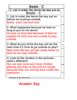 Boots by Anne Schreiber - Comprehension Questions