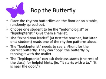 Bop the Butterfly: ta, titi, rest