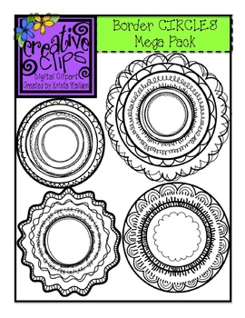 Border CIRCLES Mega Pack {Creative Clips Digital Clipart}