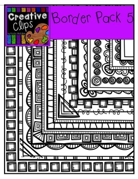 Border Pack 5 {Creative Clips Digital Clipart}