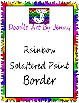 Border--Rainbow Splattered Paint Border