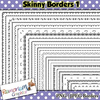 Set 1 25 Thin Page Borders
