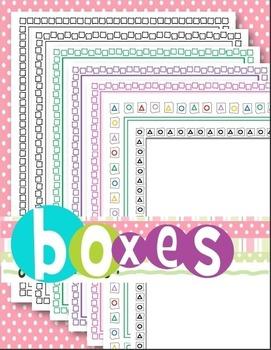 Borders (Boxes & Math Shapes)