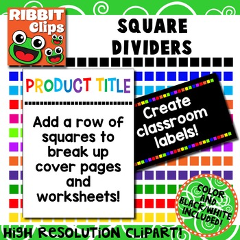 Borders- Squares Row Clipart