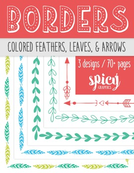 Borders - Colored Feathers, Leaves, & Arrows
