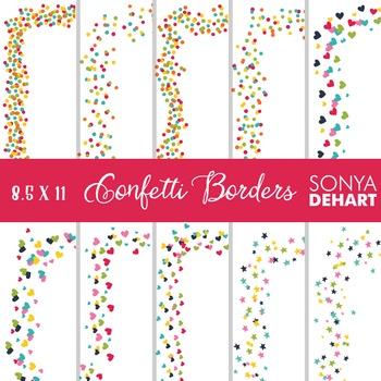 Clip Art: Borders - Confetti Page and Cover Borders